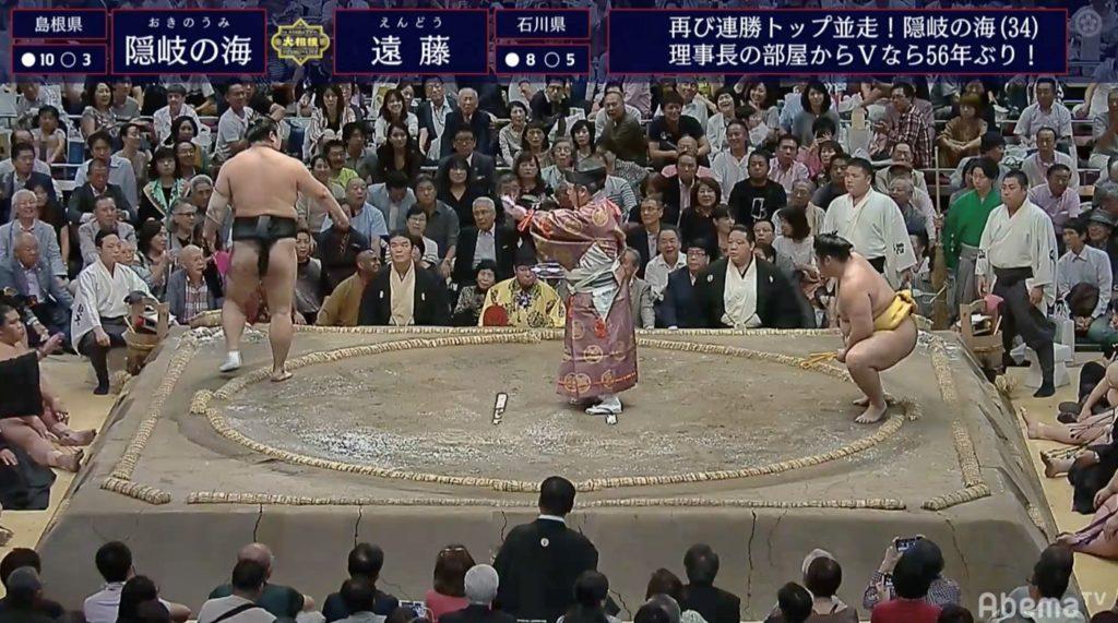 大相撲 九月場所 十四日目 貴景勝電車道11勝! 御嶽変化・隠岐の海も3敗守った!