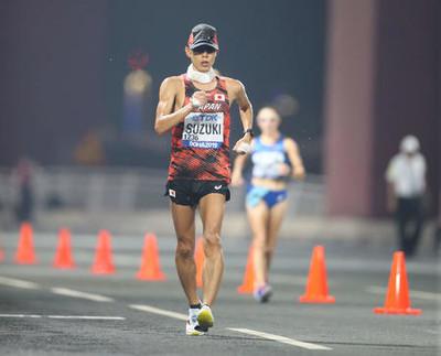 【陸上】世界選手権 男子 50km競歩 鈴木雄介 が優勝 陸上世界選手権での優勝は日本人5人目の快挙