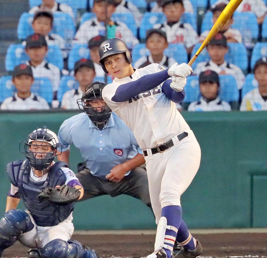 阪神 2位井上(履正社)の公約は「日本の4番になりたい」高校通算49本塁打 187センチ