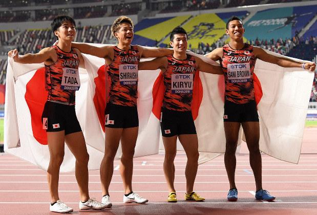 世界陸上 男子4×100リレー決勝 日本は3位!銅メダル